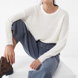 Urban Outfitters Andi Pullover Sweater in Cream
